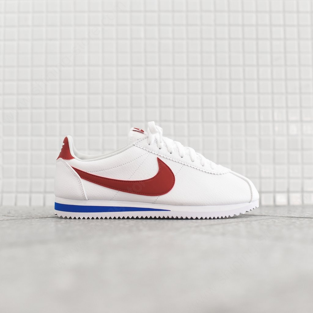 Mens Sneakers Nike Classic Cortez White / Varsity Red / Varsity Royal - Mens Sneakers Nike Classic Cortez White / Varsity Red / Varsity Royal